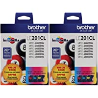 Brother Genuine Standard Yield Color Ink Cartridges, LC2013PKS, Replacement Color Ink Three Pack, Includes 1 Cartridge Each of Cyan, Magenta & Yellow, Page Yield Up to 260 Pages/Cartridge - 2 Pack