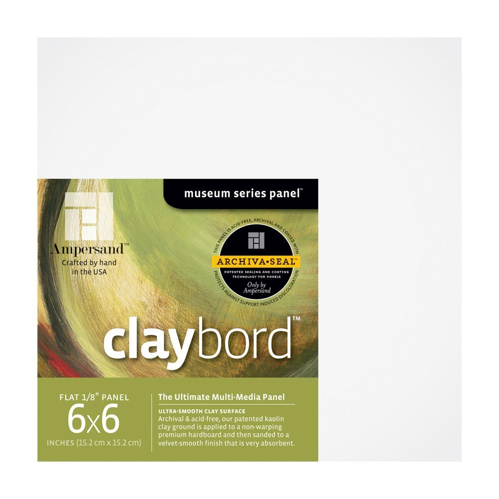 Claybord 1/8 Inch 6X6 4/Pack Ampersand Press BHBU0503A1158