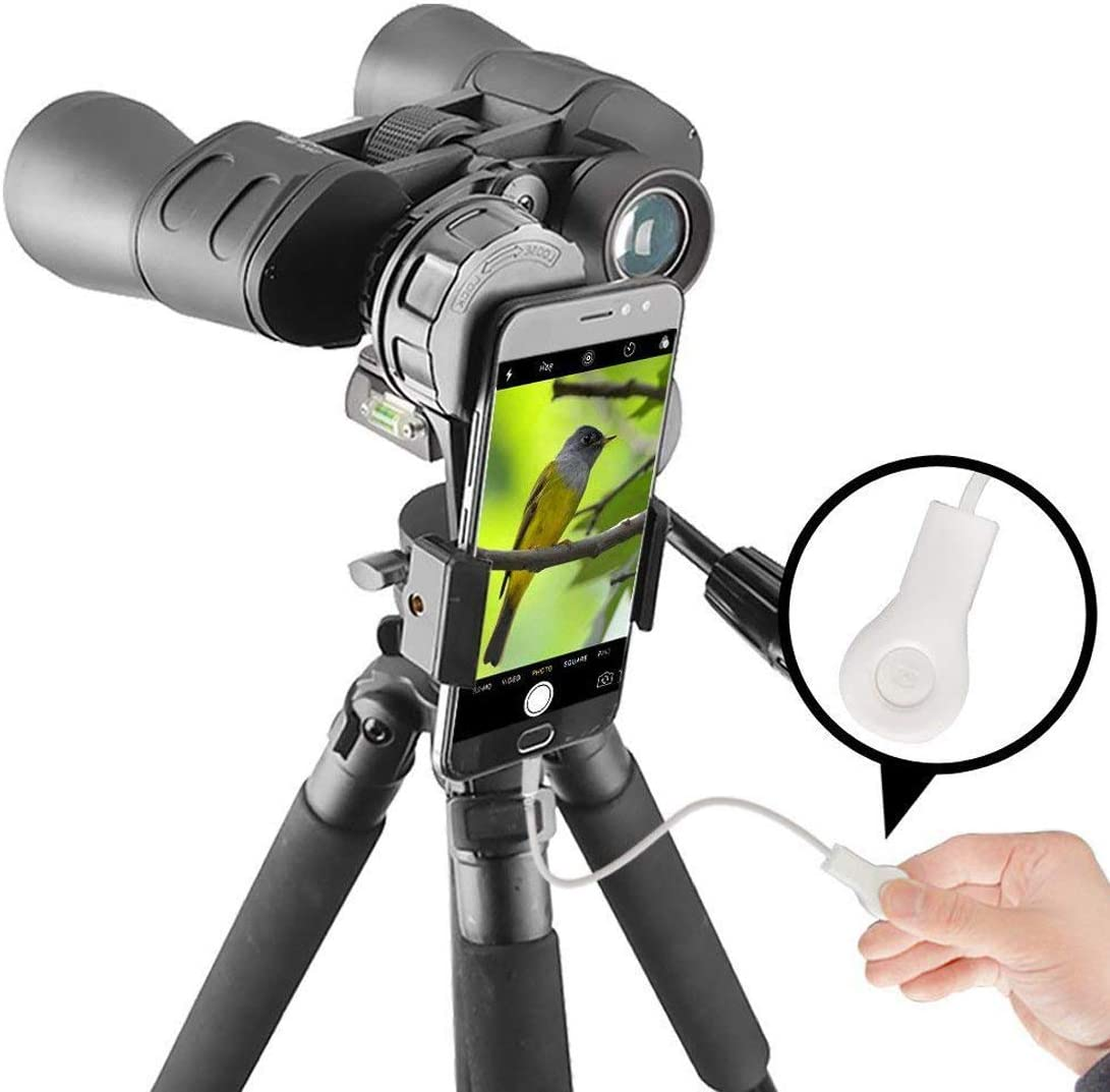 Gosky Binocular Camera Shutter Wire Control for Smartphones and Smartphones Adapter Mount – Remove Vibration -Get Better Photos