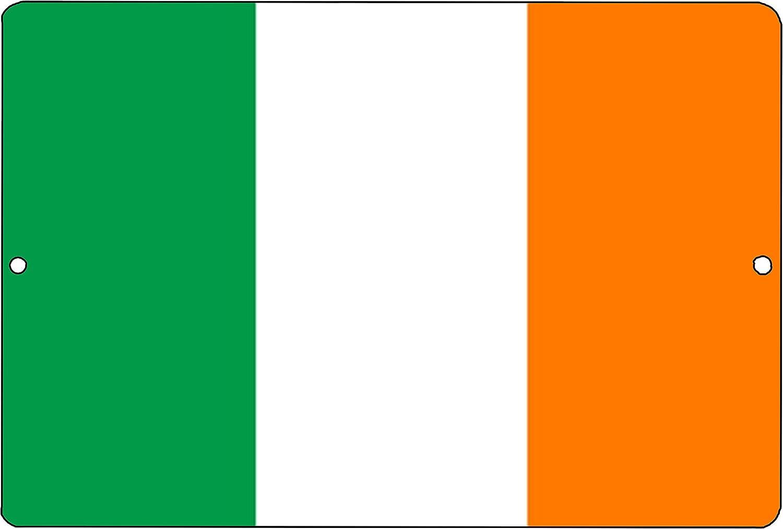 Rogue River Tactical Irish Flag Metal Tin Sign Wall Decor Man Cave Bar Ireland