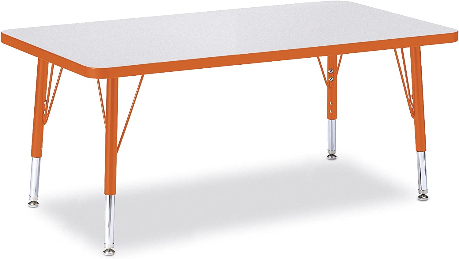 T-Height Berries 6403JCT251 Rectangle Activity Table Maple//Maple//Camel 24 x 48