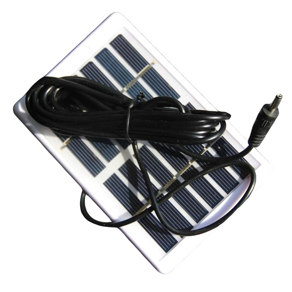 Merssavo Polycrystalline Solar Panel 1.2W 6V Board Plastic Frame DC Interface with 3M Line