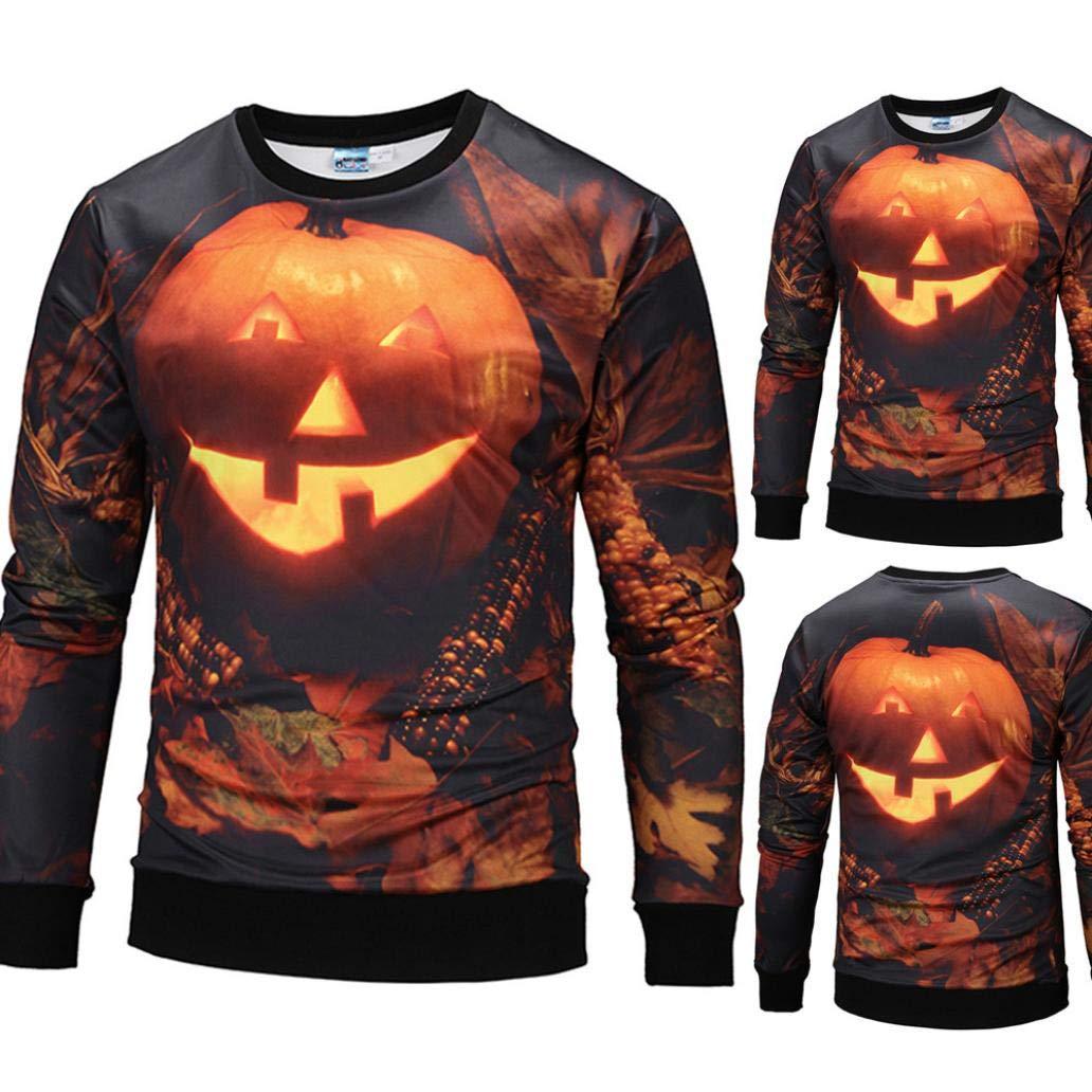 Vermers Mens Casual Halloween Pumpkin 3d Print Party Sweatshirt Men Torch Tunik Women Burgundy Maroon Xl Leisure Long Sleeve T Shirt Tops At Amazon Clothing Store