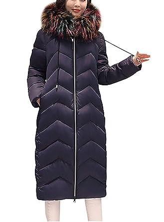 7892427096e28 Femme Hiver Parka Long Fashion Épaissir Chaud Fille Doudoune Manteau Loisir  Élégant avec Capuchon Fourrure avec