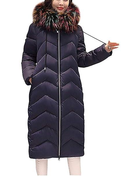 789442eec0 Parka Invernale Donna Lunghe Fashion Addensare Caldo Piumini con ...