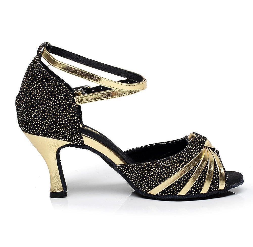 WYMNAME Womens Latin Dance Shoes,Soft Bottom Anti-skidding Ballroom Dance Shoes Sandal
