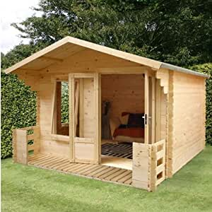 Winchester 10.1ft x 12.4ft (3.2m x 3.7m) 19mm Log Cabin with Veranda