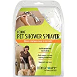 Rinse Ace Deluxe Pet Shower Sprayer with 8 foot Hose and Showerhead Attachment