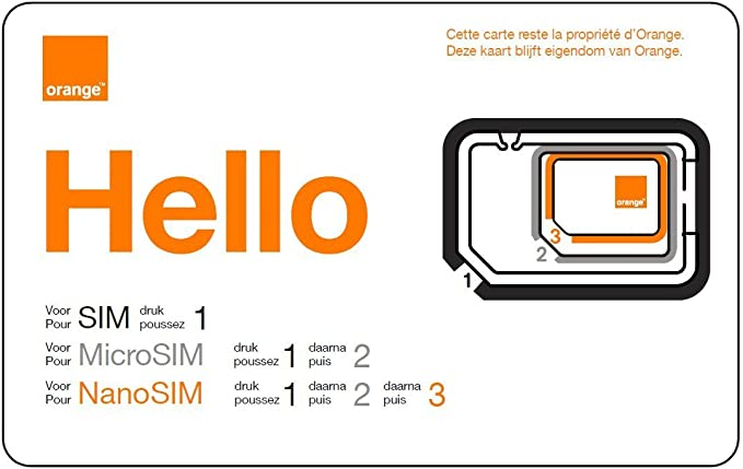 carte micro sim orange Mobicarte Orange Classic SIM and Micro SIM Card: Amazon.co.uk