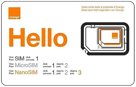 ORANGE Mobicarte - Tarjeta SIM y Micro SIM clásica, Color ...