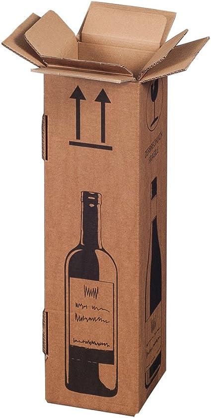 Magnum - Caja de envío para 1 botella de vino (certificado PTZ - DHL): Amazon.es: Oficina y papelería