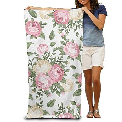 Macevoy rosa blanca patrón Cyber lunes adultos Super absorbente toalla de playa toallas de playa de