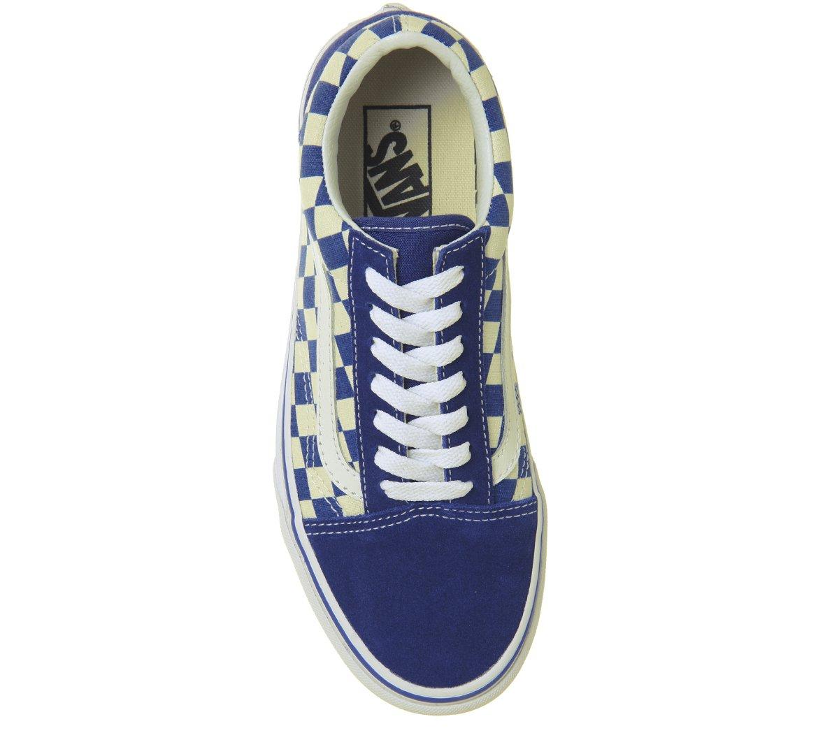 Vans Skool Herren UA Old Skool Vans Sneaker, Grau, 47 EU True Blau Classic Weiß Checkerboard 968daf