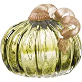 Glitzhome JK90471 Glass Pumpkin 4.72 Inch Green