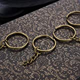JEWMAY 100Pcs Split Key Chain Rings with Chain and