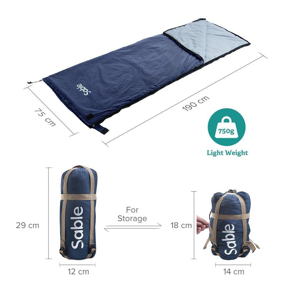 Sable Sac Drap Bleu Sac de Couchage de Camping Confortable pour Voyage Randonn/ée H/ôtel Ultra-l/éger Montagne h/ôtels Pique-Nique Avions Trains Excursions Couverture Outdoor