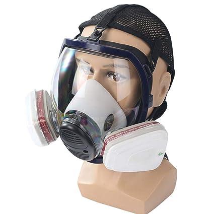 Umiwe Máscara Antigás Respirador, Máscara De Gas De Cara Completa con Protección De Visera,