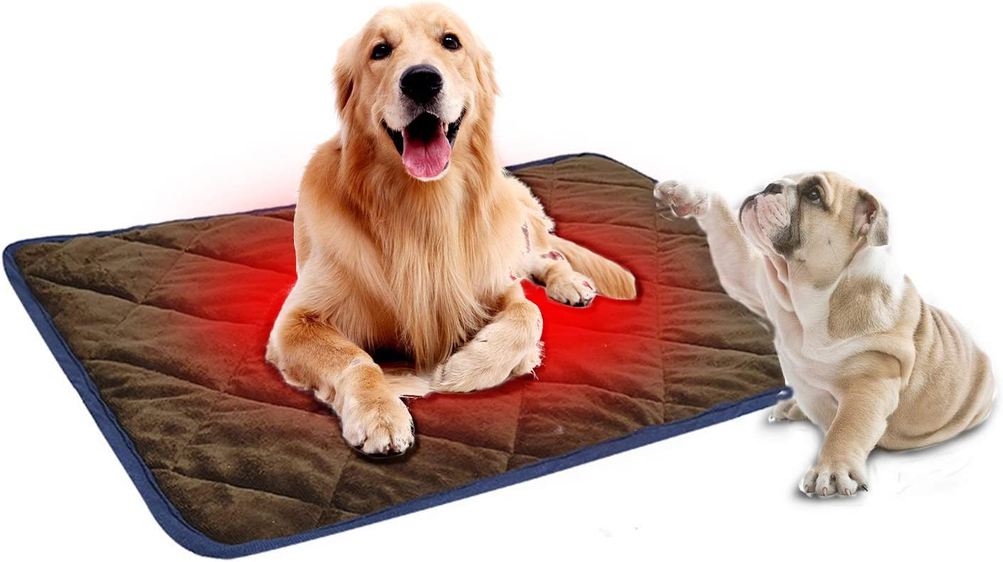 Self Heating Pet Mat,Self Heated Cat Dog Bed, Pet Crate Pad Portable & Washable Pet Thermal Mat Blanket for Small Medium and Large Pet Outdoor or Home Use