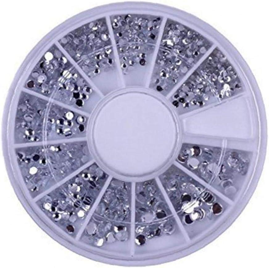 600 Piezas Nail Alta Calidad Profesional Conjunto Del Arte Con La Plata Gemas/Rhinestones/Cristales Premium Piedras Preciosas/Joyas De Perlas Blancas Perlas De Decoración