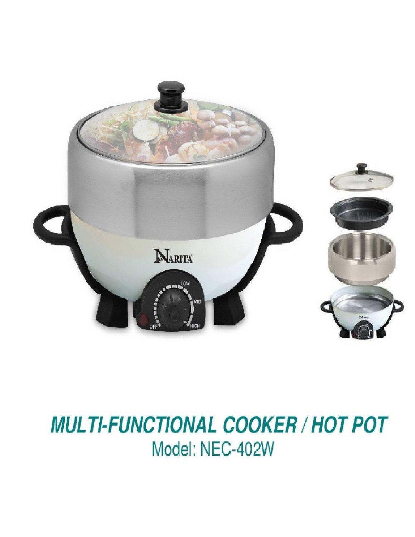 Muiti-Functional Hot Pot Cooker With Non Stick Grill Pan,Shabu Shabu Hot Pot By C&H® by Narita