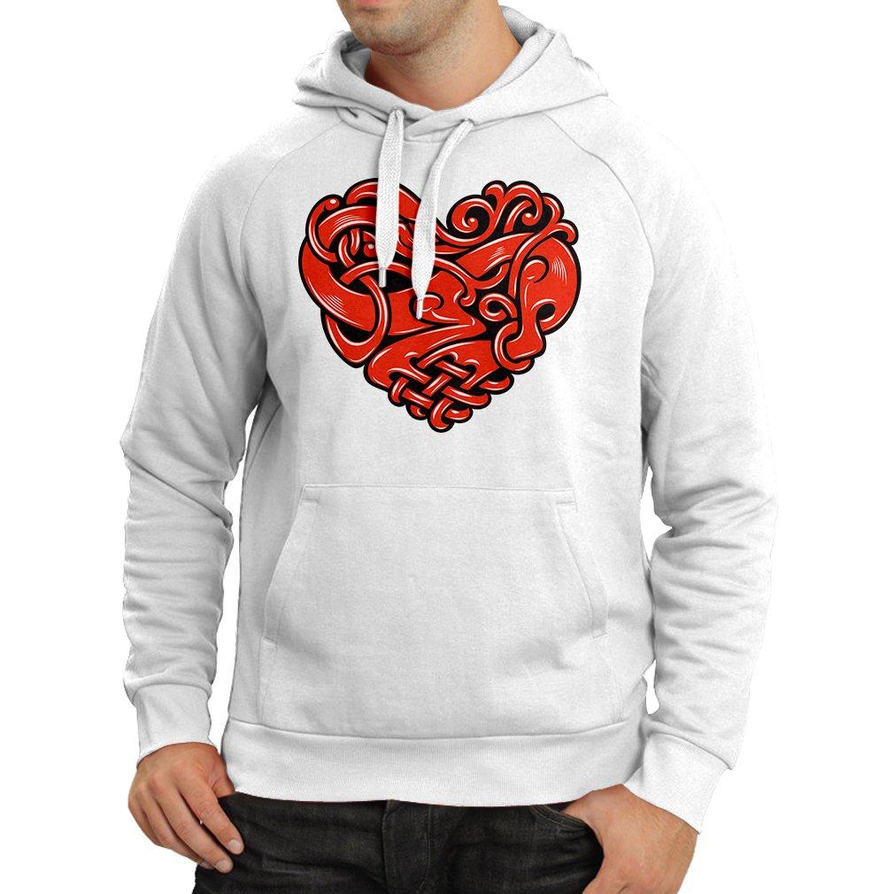 lepni.me Sudadera con Capucha Diseño del Tatuaje del corazón ...