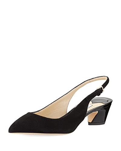 dc6f5901ecb Image Unavailable. Image not available for. Color  JIMMY CHOO Gemma Suede  Slingback Pump 39.5 Black