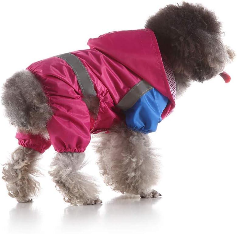 Hot Pink X-Small Ni/_ka Pet Dog Raincoats,Adjustable Dark Buckle Waterproof Reflective Rain Jacket Poncho,Stylish Leisure Jacket Hoodie Jumpsuit for Dogs Cats