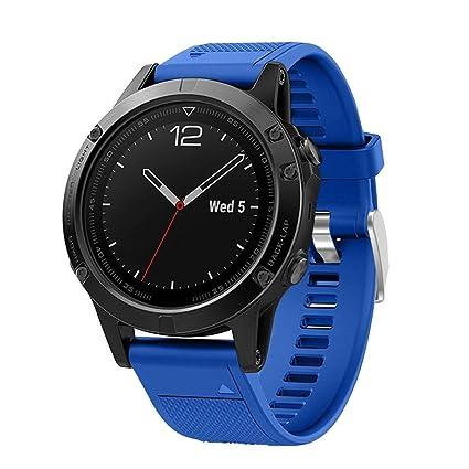Malloom Reemplazo Silicona Bandas Correas para Garmin Fenix 5 GPS Watch