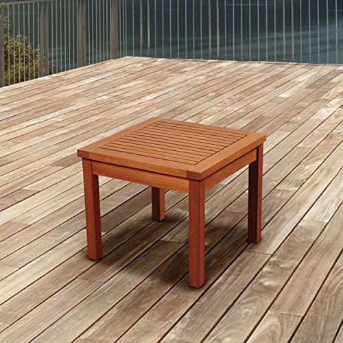 Amazonia Pacific Eucalyptus Square Side Table, Natural (17 x 19 x 19) - Contemporary Resin Side Table