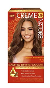 Creme Of Nature Exotic Shine Color With Argan Oil, Medium Warm Brown 7.3, 1 Ea, 1count