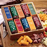10-Piece Taste Tempting Cheese & Sausage Gift Box from Wisconsin Cheeseman