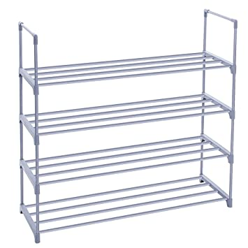 Amazon.com: SONGMICS 4-Tier Shoe Rack Shoe Tower Shelf Storage ...