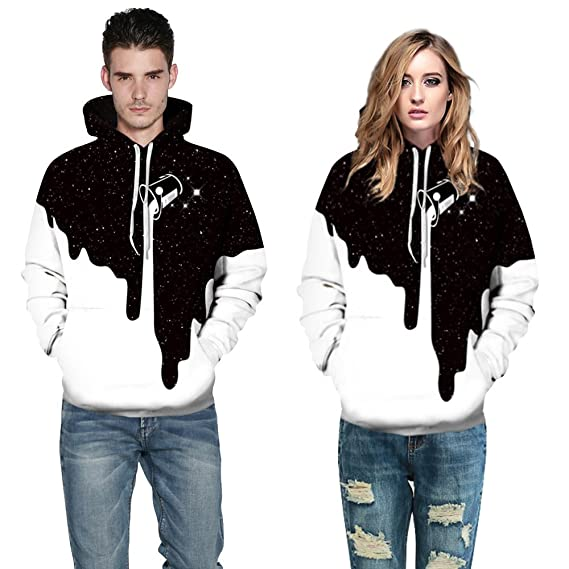 Unlimited energy Unisex 3D Digital Print Halloween Horror Hoodie Couple Sweatshirt at Amazon Mens Clothing store: