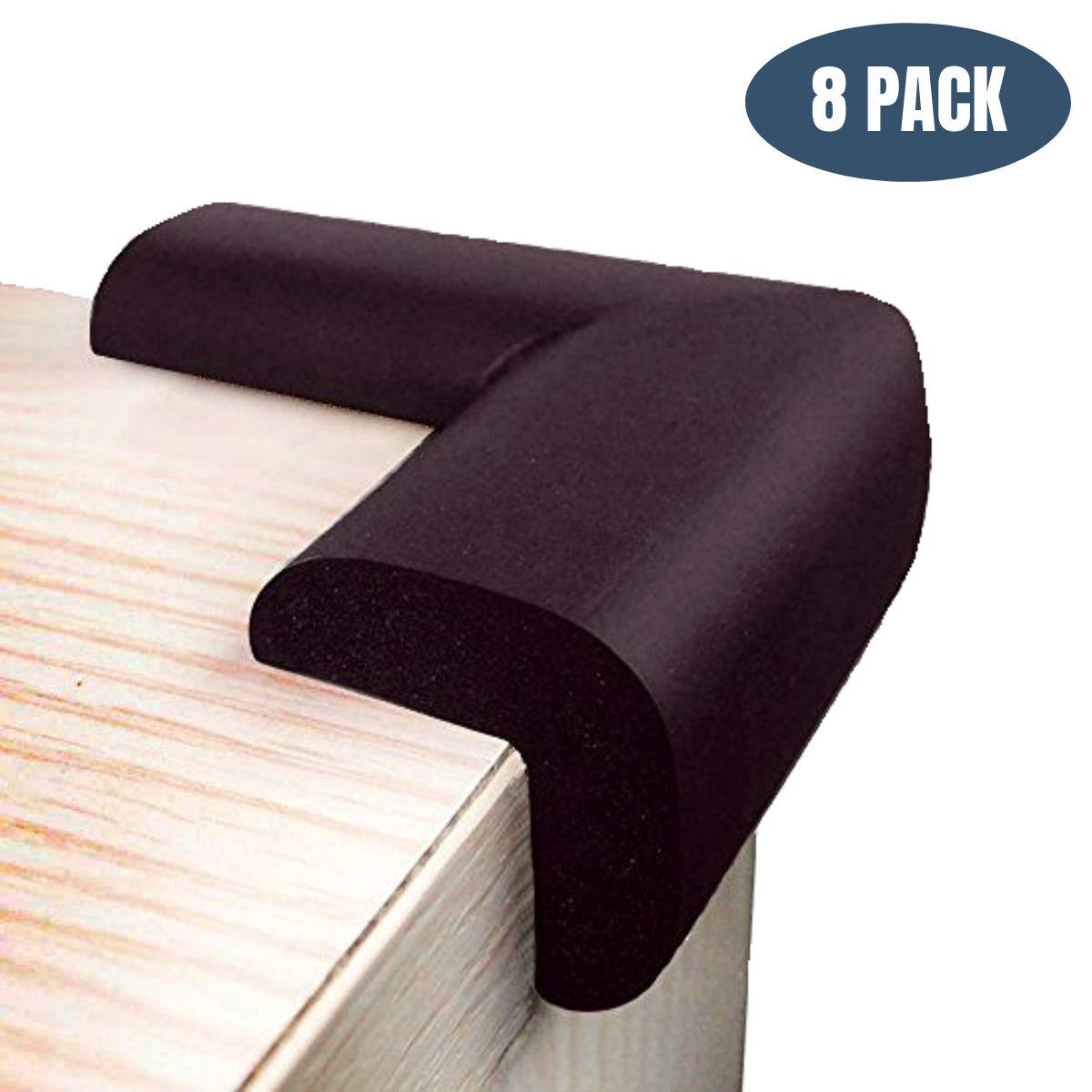 Foam Corner Protectors   Foam Caring Corner Guards by The Hamptons Baby   Safety Furniture Bumpers   Long Lasting, Pre-Applied Adhesive   Sharp Corner Cushions (Brown)