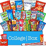 CollegeBox - Classic Snacks Care Package - Chips, Cookies, Candy Assortment Bundle Gift Pack and Variety Box (30 Count)