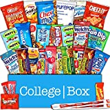 CollegeBox - Snacks Care Package (30 Count) for College Students – Variety Assortment Gift Box with Treats for Studying and Dorm Rooms – Chips, Cookies, Candy and More