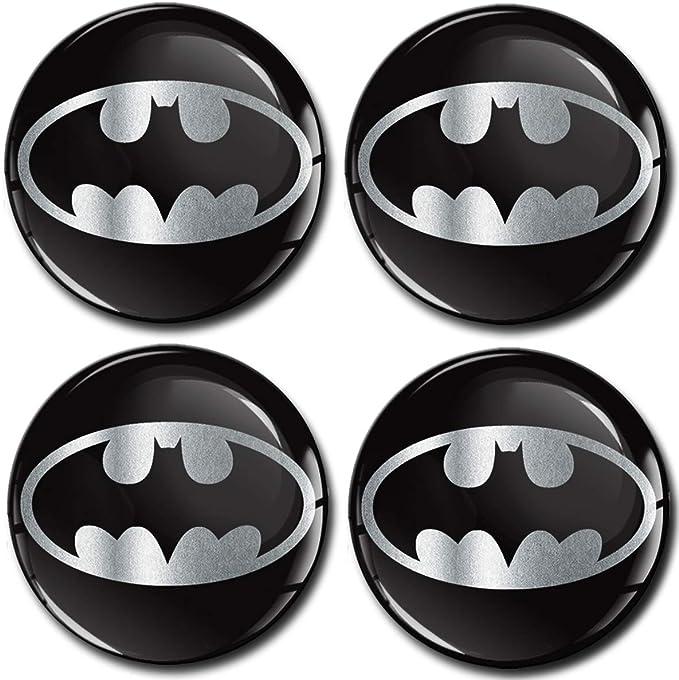 Skinoeu 4 X 60mm Aufkleber 3d Gel Silikon Autoaufkleber Stickers Batman Silber Felgenaufkleber Für Radkappen Nabenkappen Radnabendeckel Rad Aufkleber Nabendeckel Auto Tuning A 7260 Baumarkt