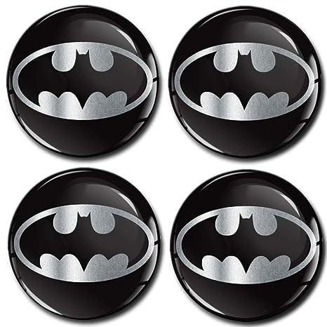 buono sconto acquista per ufficiale prodotti caldi Skino 4 x 60mm Adesivi Resinati 3D Gel Stickers Auto Coprimozzi Logo  Silicone Autoadesivo Stemma Adesivo Copricerchi Tappi Ruote Batman Argento  Silver ...