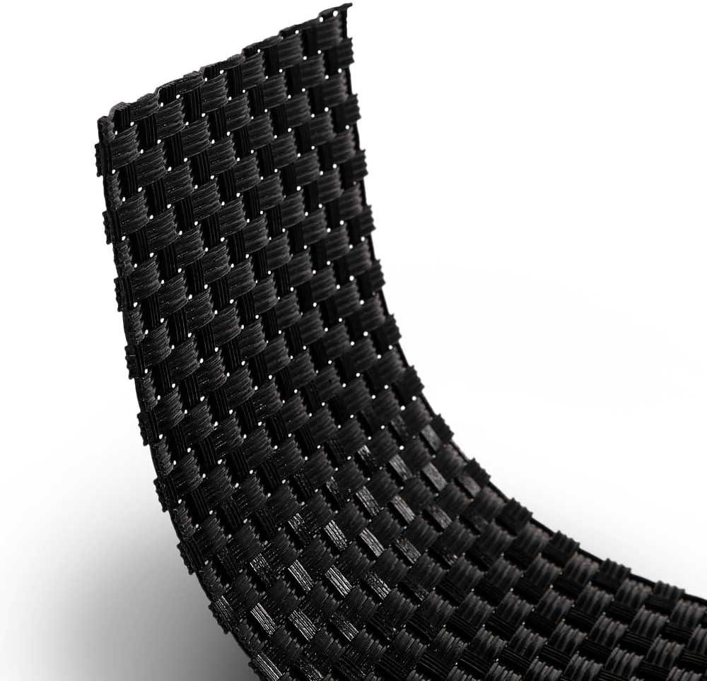Anthrazit Sichtschutz Zaunblende Dekorative PE-Rattan Sichtschutzstreifen f/ür Metall- und Gittermattenzaun in 255 cm x 19 cm