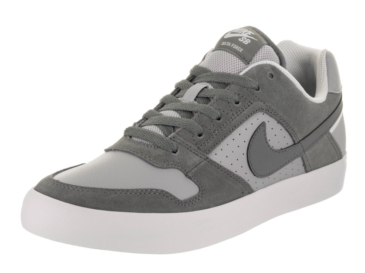 NIKE Men's SB Delta Force Vulc Cool Grey/Cool Grey Wolf Grey Skate Shoe 10 Men US 11 D(M) US|Cool Grey / Cool Grey-wolf Grey