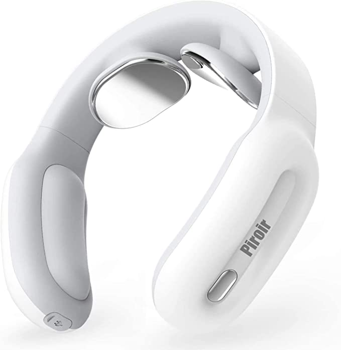 Amazon.com: Smart Neck Massager,Intelligent Portable Neck Massage with Heat Cordless,3 Modes 15 Levels Smart Deep Tissue Trigger Point Massage Use at Home,Outdoor,Office,Car by Piroir (White) (White) (white2): Health & Personal Care