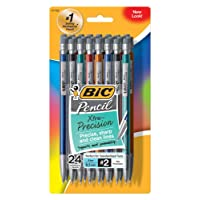Deals on 24-Ct BIC Xtra-Precision Mechanical Pencil, Metallic Barrel