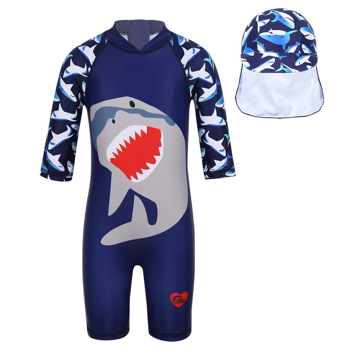 iEFiEL Kids Boy Girl Swimsuit One Piece Striped Surfing Suits Beach Swimwear Rash Guard