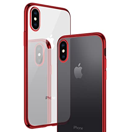 sale retailer f73f8 803e1 CASEKOO iPhone X Case, iPhone 10 Case, Slim Fit Ultra Thin Clear Case with  Soft Silicone Protective Transparent Back Shockproof Bumper Cover ...