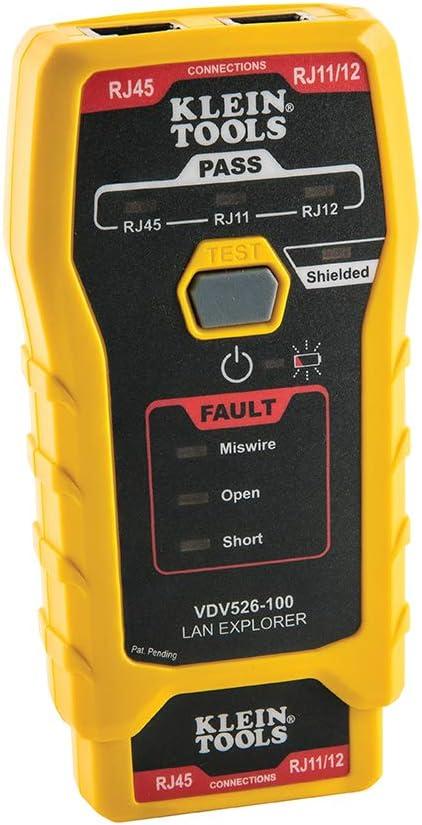 Klein Tools VDV526-100 Network LAN Cable Tester, VDV Tester, LAN Explorer with Remote