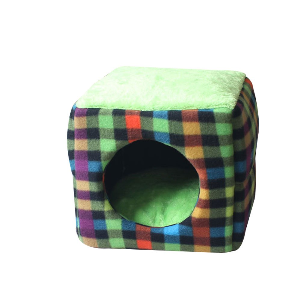 il prezzo più basso Jia He Cuccia Pet Bed Dog Dog Dog Mat Cat House Piccolo e Medio Pet Sacco a Pelo Pet Mat Square Dog Nest Pet Supplies (colore   B, Dimensioni   33  33  33cm)  omaggi allo stadio