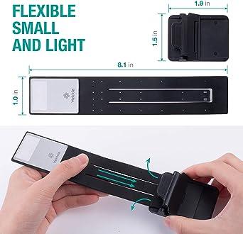 Perfekt f/ür Leser eingebautes USB-Kabel Easy Charge Lesezeichen Buch Licht , Leselampen f/ür B/ücher im Bett unendliche Helligkeitsstufen weiches Licht leicht f/ür die Augen
