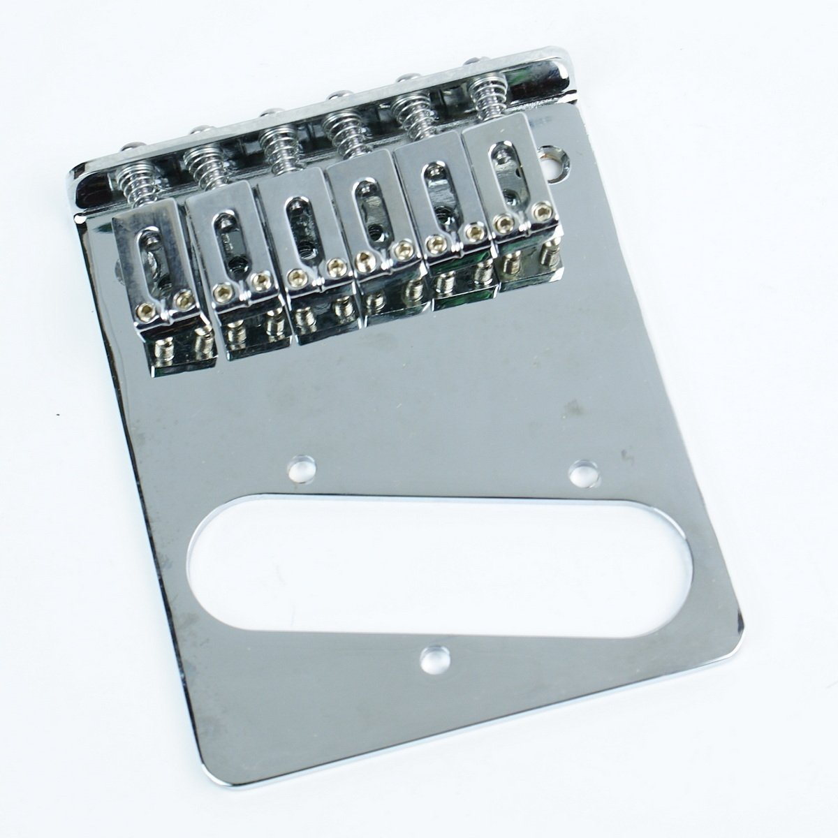 (B97) Replacement Tele Telecaster Guitar bridge ,6-Saddle Modern Style ,Chrome mLaval mLa-0407