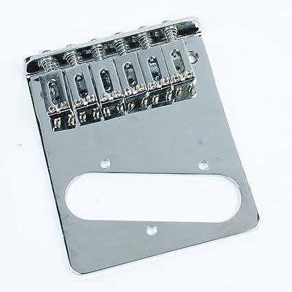 (B97) Replacement Tele Telecaster Guitar bridge ,6-Saddle Modern Style  ,Chrome
