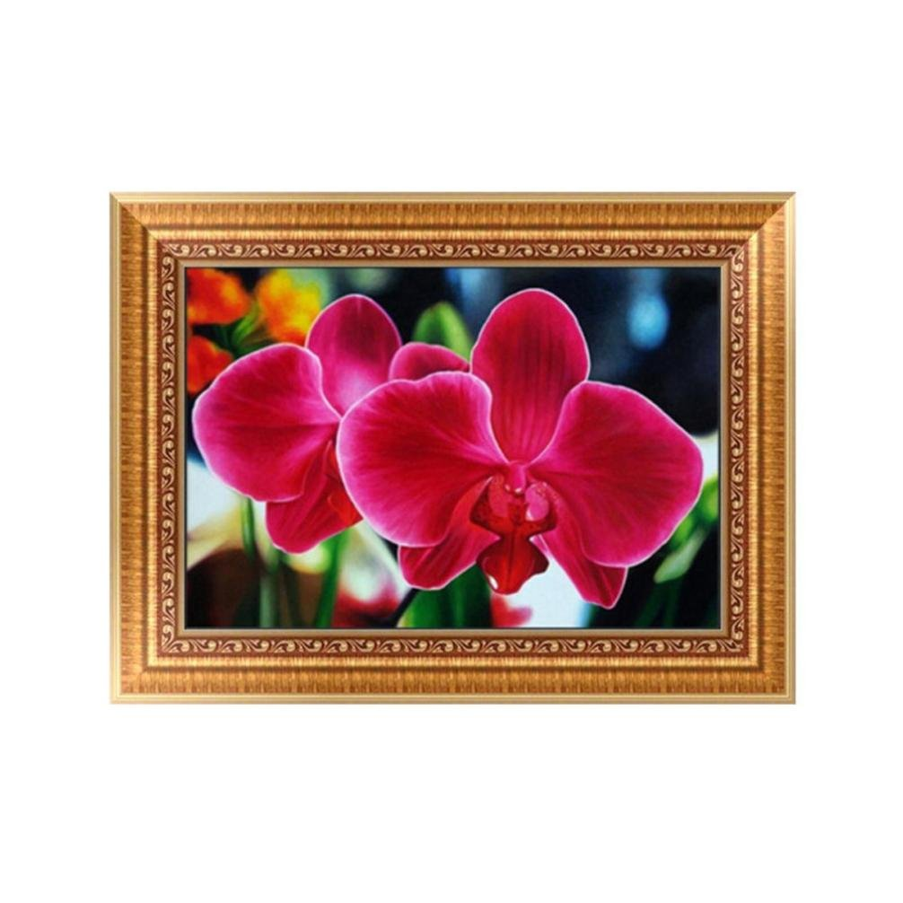 FORESTIME 5D DIY Diamond Painting ,Flower Diamond Painting By Number Kits for Adults Full Square Drill Rhinestone Embroidery for Wall (E, 3040cm)